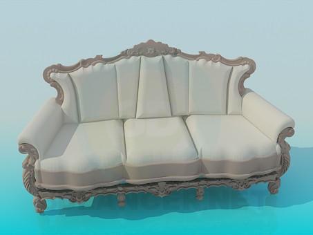 3d моделирование Софа в стиле барокко модель скачать бесплатно
