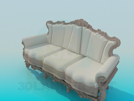 3d model Baroque sofa - preview