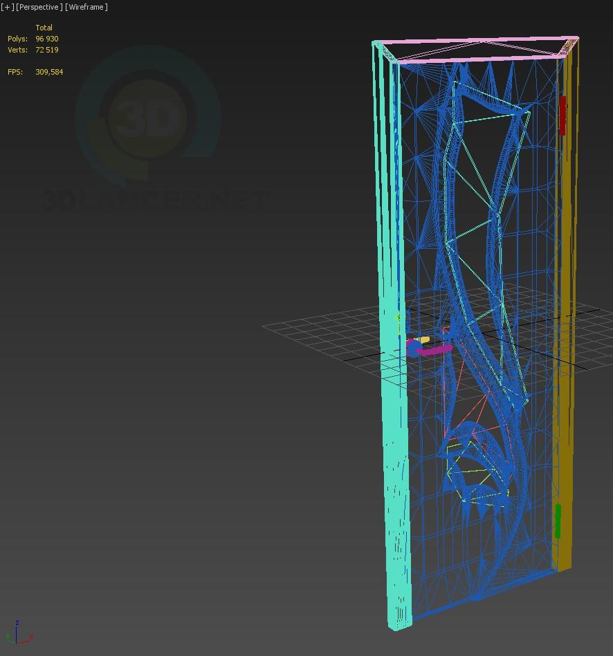 descarga gratuita de 3D modelado modelo Puerta-5do2