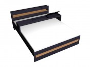 Double bed  180x220 with an extension