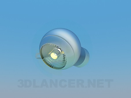 3d model Halogen lamp - preview