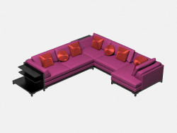 Modular corner sofa (with shelves) Aquitaine