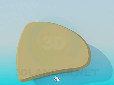 3d модель Треугольный пуфик – превью