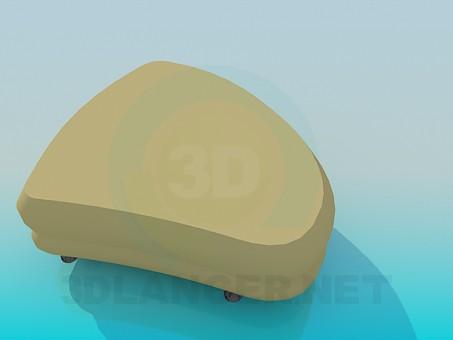 3d model Triangular Ottoman - preview