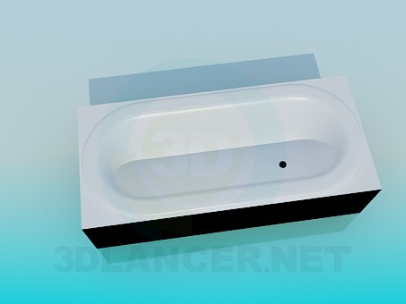 3d modeling Built-in bath model free download