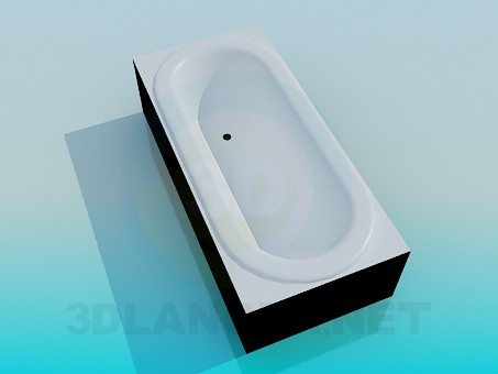 3d model Built-in bath - preview