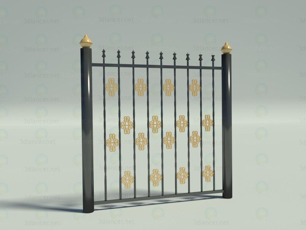 3d модель Забор – превью
