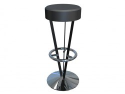 High stool without backrest