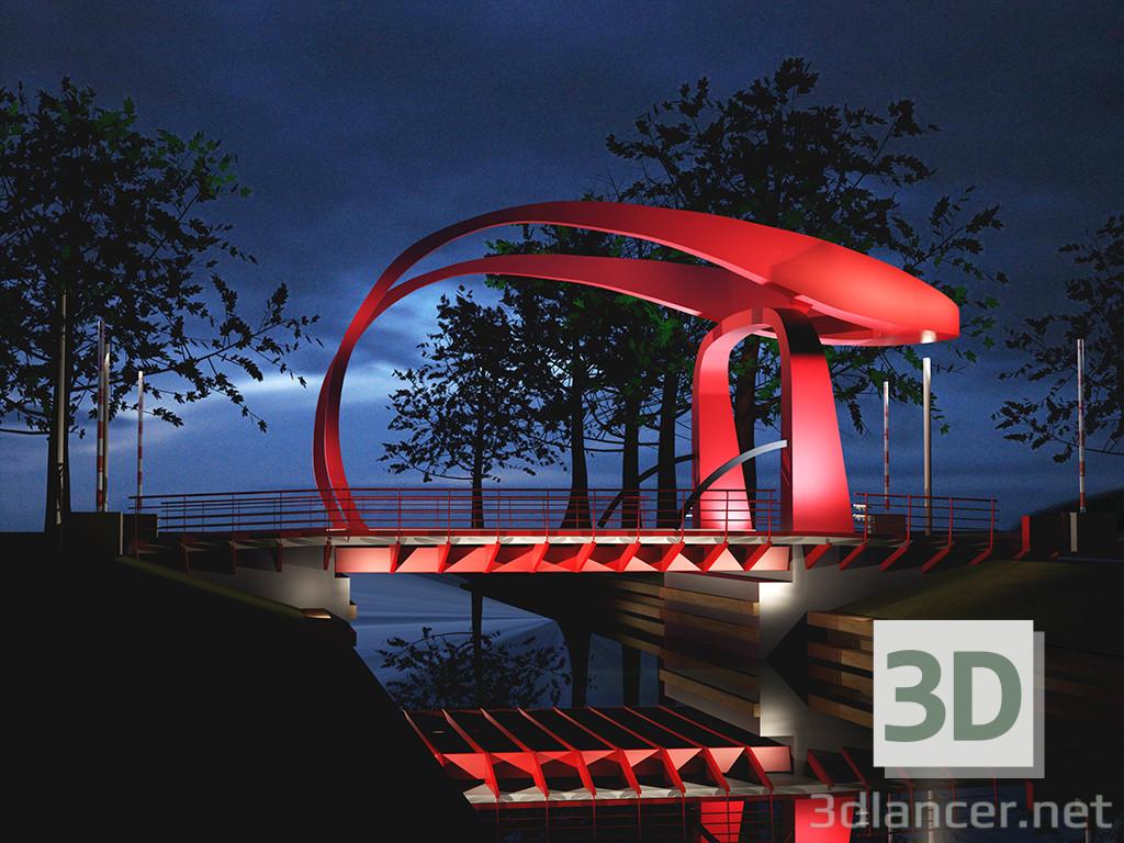 3 डी मॉडल रेड ब्रिज हॉलैंड - पूर्वावलोकन