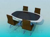 Business table and chairs