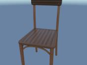 Chair simple (wood)
