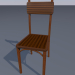 3d model Chair simple (wood) - preview