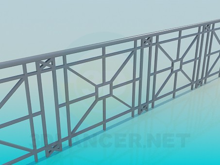 3d modeling Railings for the bridge model free download