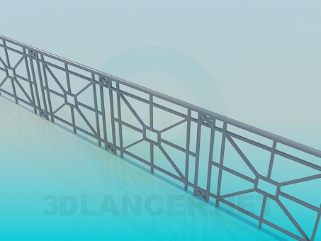3d model Railings for the bridge - preview