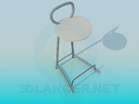 3d моделювання Стілець з підставкою для ніг модель завантажити безкоштовно