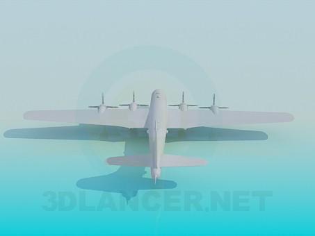 3d модель Військовий літак – превью