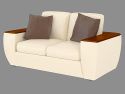 Sofa modern double cuir