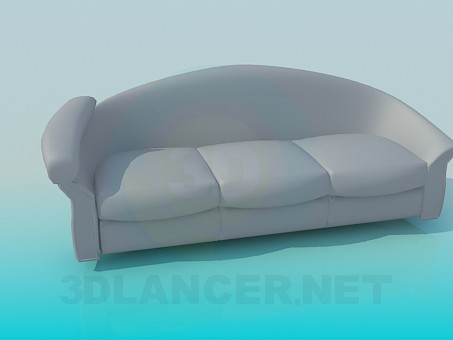3d model Sofa with headrest - preview