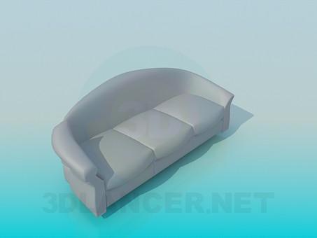 modelo 3D Sofá con reposacabezas - escuchar