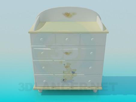 3d modeling Dresser for child's room model free download