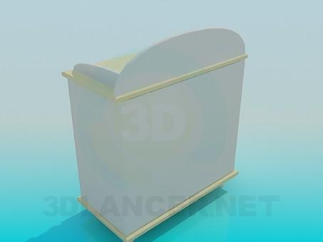 modelo 3D Cómoda para habitación de niño - escuchar
