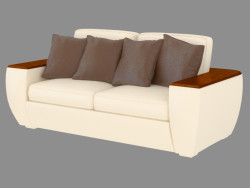 Sofá de cuero doble