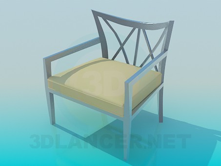 3d model Stool with metal back - preview