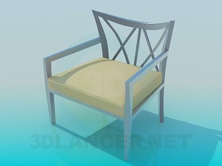 modelo 3D Taburete de metal nuevo - escuchar