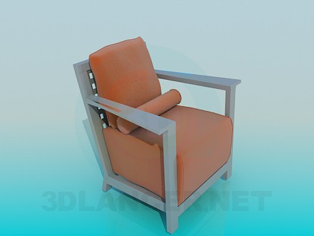 3d model Chair with roller - preview