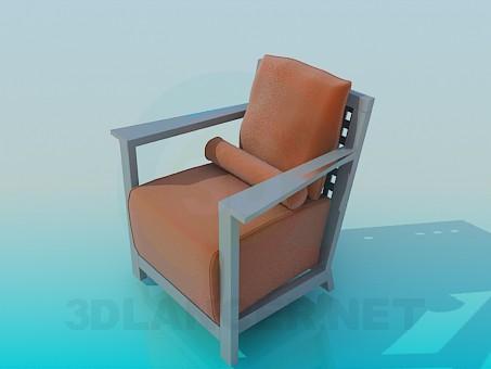 3d модель Кресло с валиком – превью