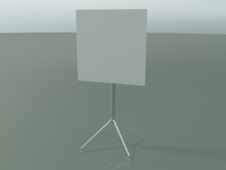 Square table 5748 (H 103.5 - 69x69 cm, folded, White, LU1)
