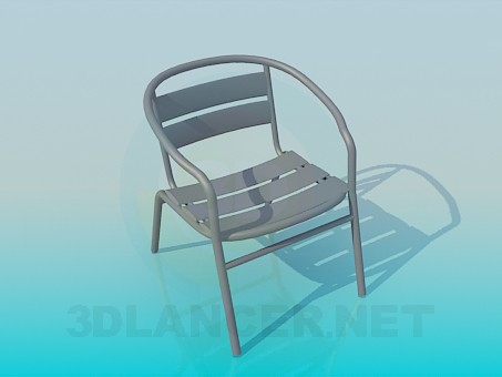 3d model Stool on a metal framework - preview