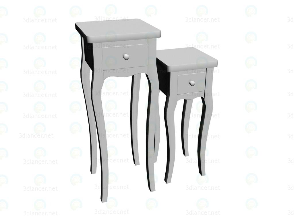 3d modeling Table serving Classic Baroque White (2 PCs. per set) model free download
