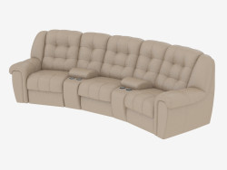 Leather sofa rounded