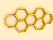 Wooden shelf honeycomb