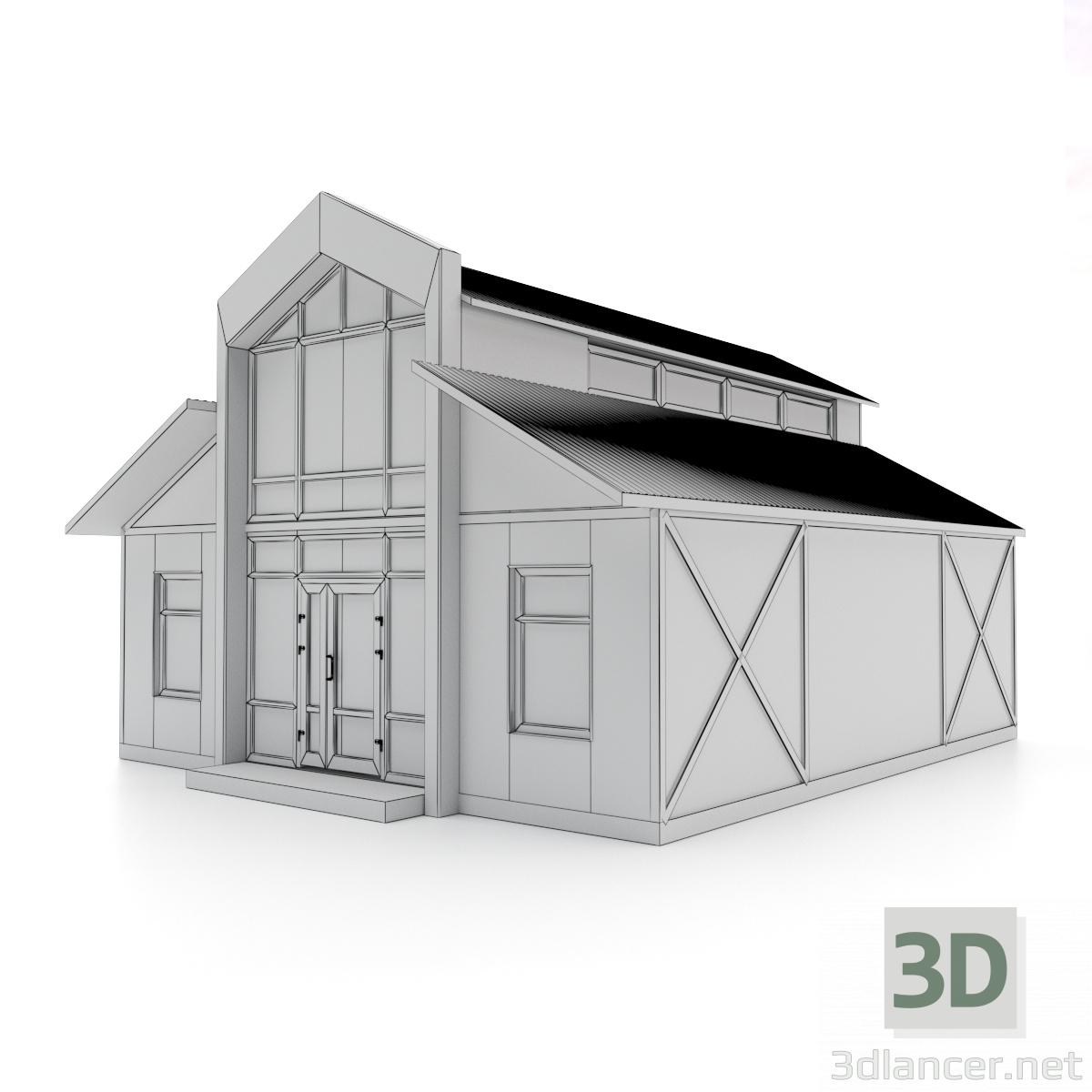 3d mini market 8X9 model buy - render