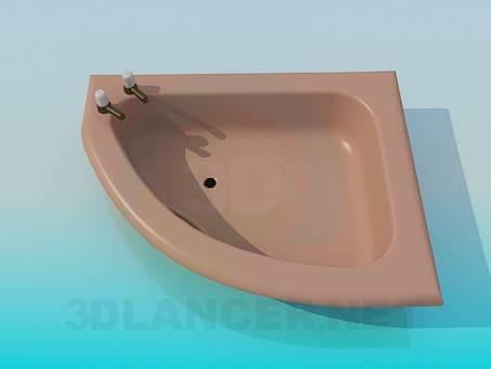 3d model Shower tray with taps - preview