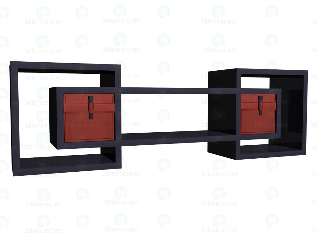 3d model Shelf with drawers VOX - preview