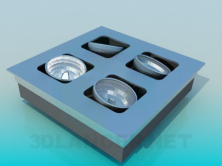 3d model Halogen - preview