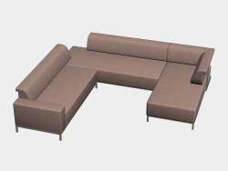 Sofa modular (U-shaped) Borneo
