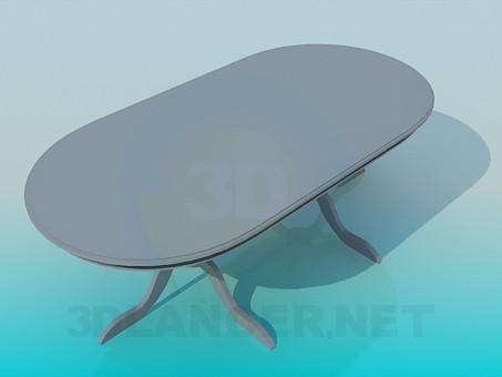 3D Modell Ovaler Esstisch - Vorschau