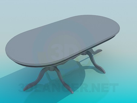 3d model Oval dining table - preview