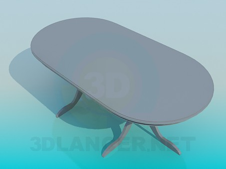 3d модель Овальный обеденный стол – превью