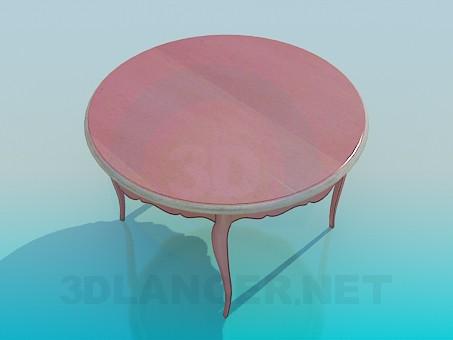 modelo 3D Mesa redonda - escuchar