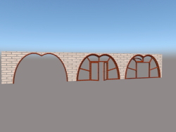 Fenster, Tür und Bogen