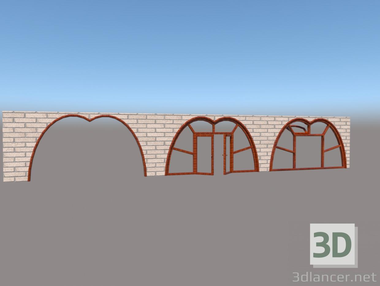 3d model Window, door and arch - preview