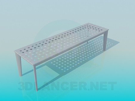 3d modeling Outdoor bench model free download