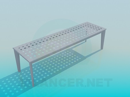 3d model Outdoor bench - preview