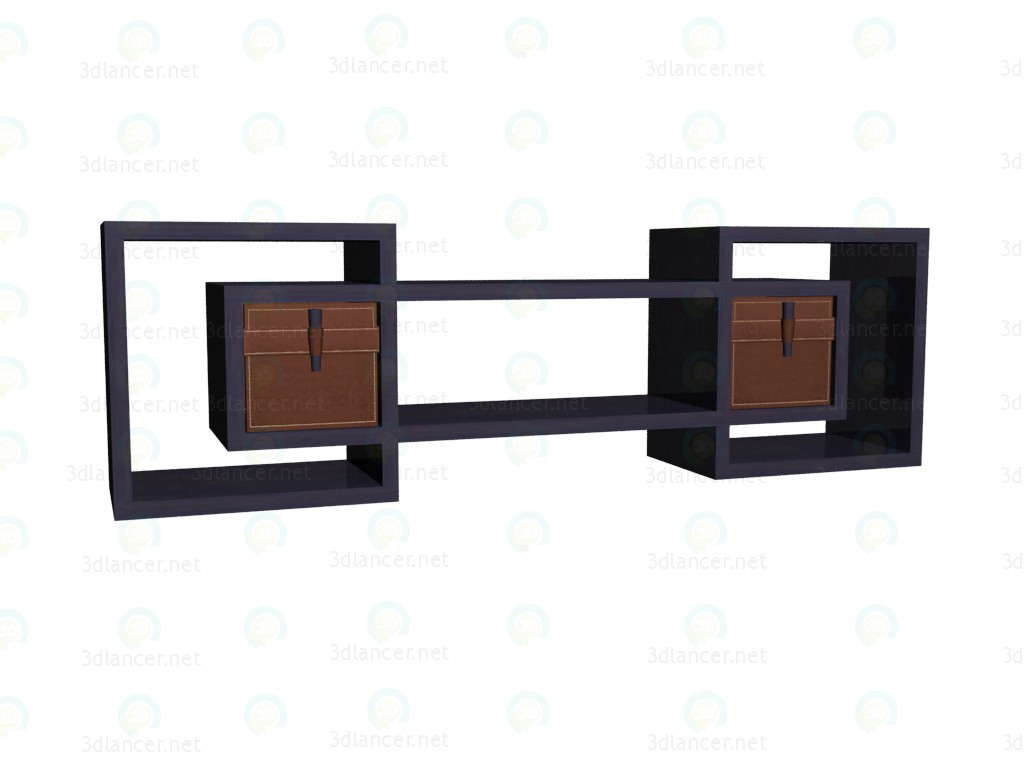 3d model Shelf with drawers (wenge drawers) VOX - preview