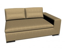 Sofa-Moore (152 x 105 x 75) (Element mit 1-m Armlehne Dx)